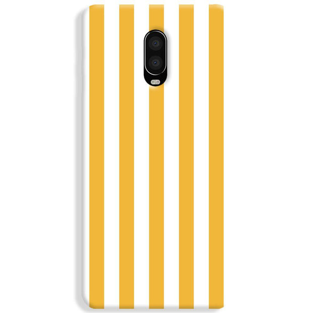 White Yellow Stripes OnePlus 6 Case