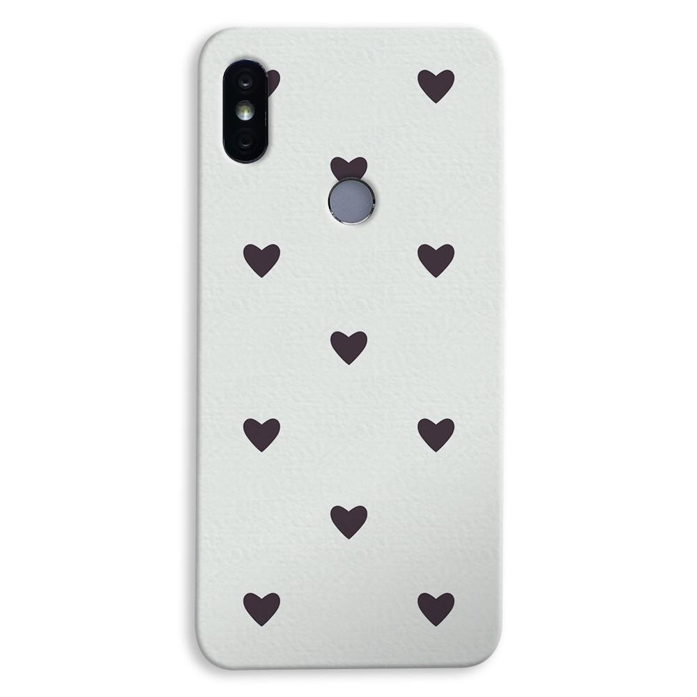 Black Heart Pattern Xiaomi Redmi Y2 Case