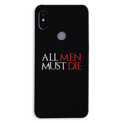 ALL MEN MUST DIE Xiaomi Redmi Y2 Case
