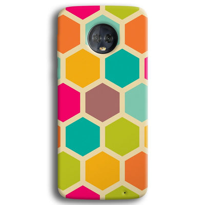 Hexagon Color Pattern Moto G6 Plus Case