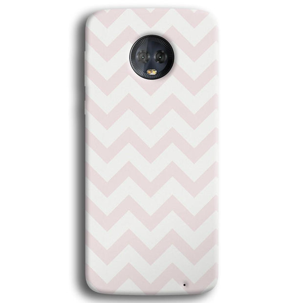 Light Pink Chevron Pattern Moto G6 Plus Case