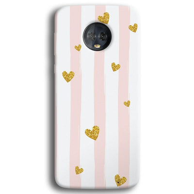 Cute Heart Pattern Moto G6 Plus Case