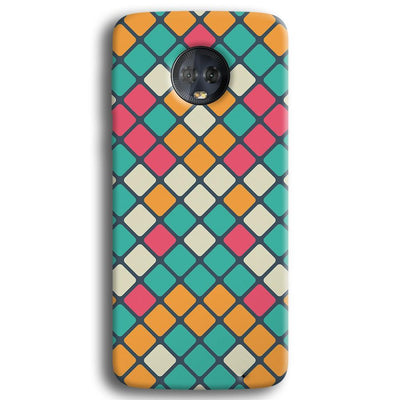Colorful Tiles Pattern Moto G6 Plus Case