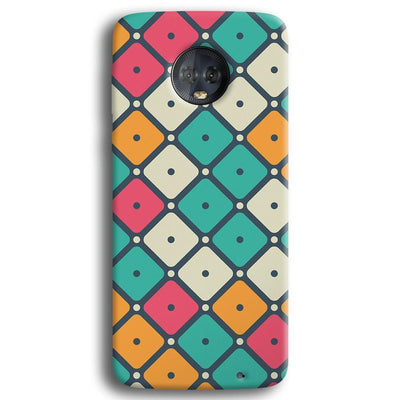 Colorful Tiles with Dot Moto G6 Plus Case