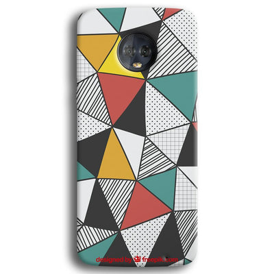 Triangle Abstract Pattern Moto G6 Plus Case