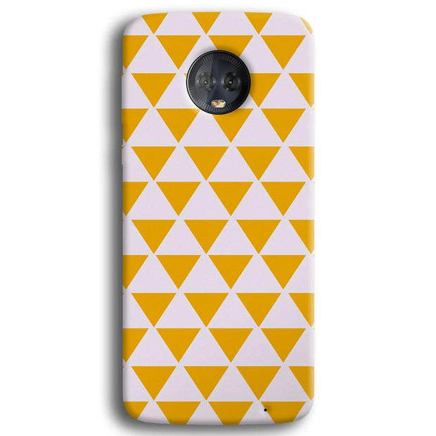 Yellow Triangle Moto G6 Plus Case