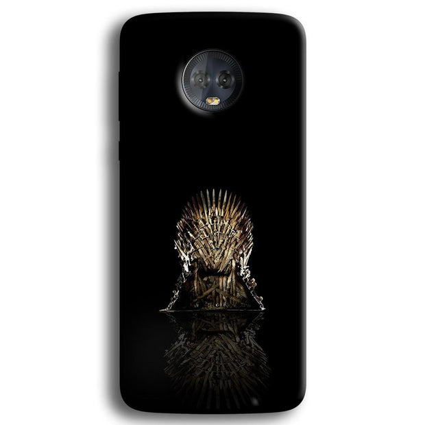 Black Iron Thrones Moto G6 Plus Case