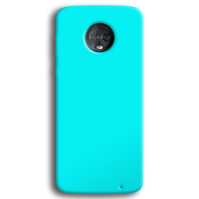 Aqua Blue Moto G6 Plus Case