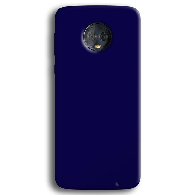 Navy Blue Moto G6 Plus Case