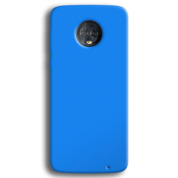 Sky Blue Moto G6 Plus Case