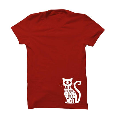 All You Need Is Love & Cat T-Shirt