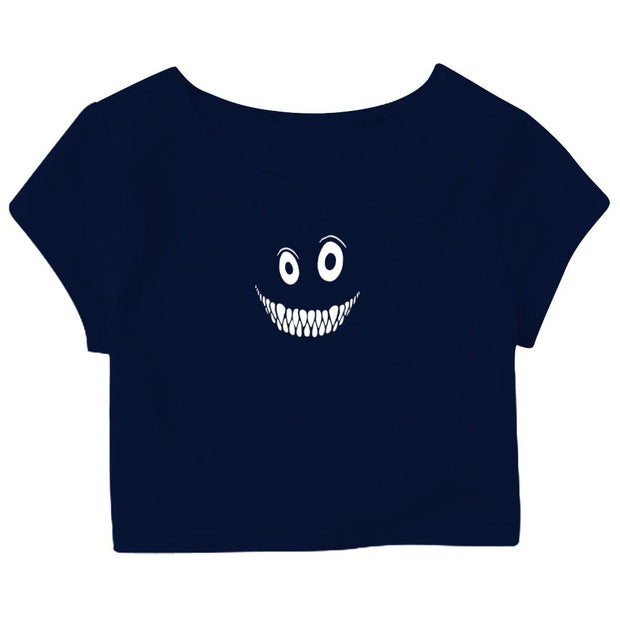Evil Smile Crop Top