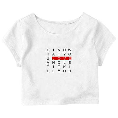 Crossword Crop Top