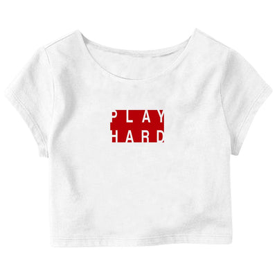 Play Hard Crop Top