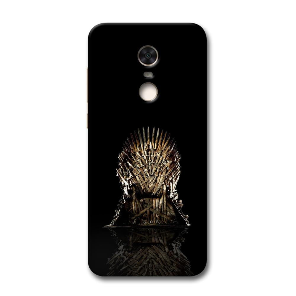 Black Iron Thrones Redmi Note 5 Case