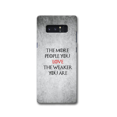 The More People Love You Samsung Note 8 Case