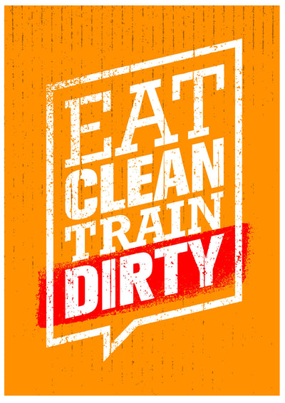 Buy Eat Clean Train Dirty Poster