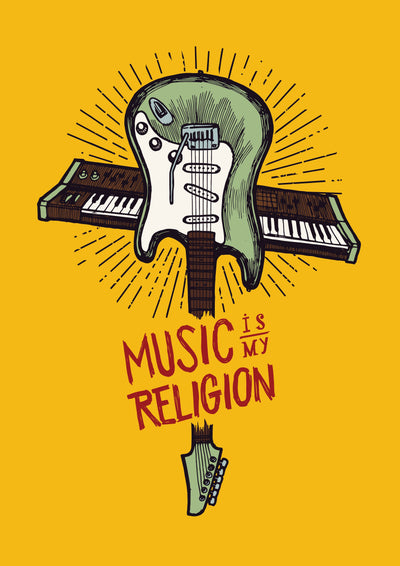 Buy Music is my Religion Poster