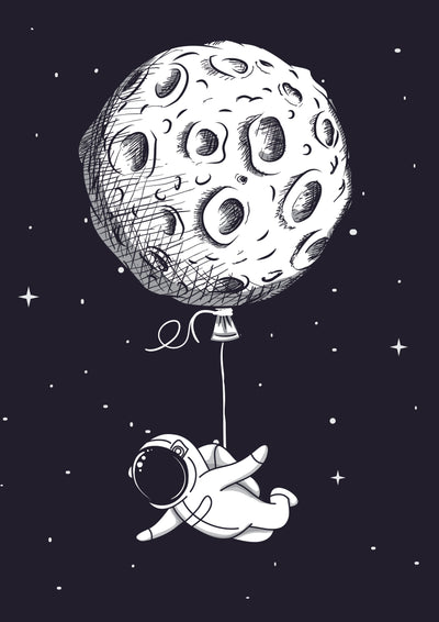 Buy Cute Astronaut Poster
