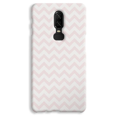 Light Pink Chevron Pattern OnePlus 6 Case