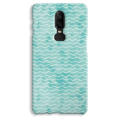 Wavy Blue Pattern OnePlus 6 Case