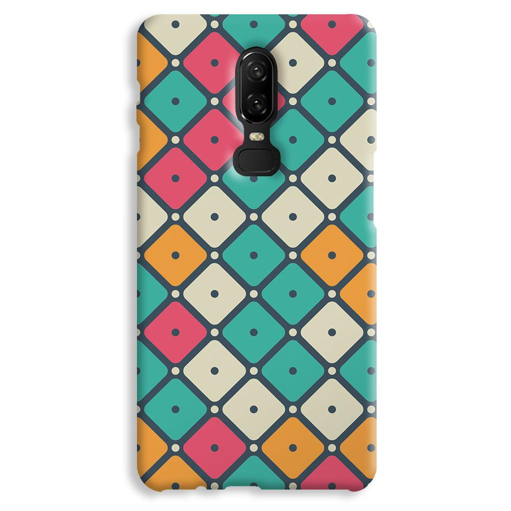 Colorful Tiles with Dot OnePlus 6 Case