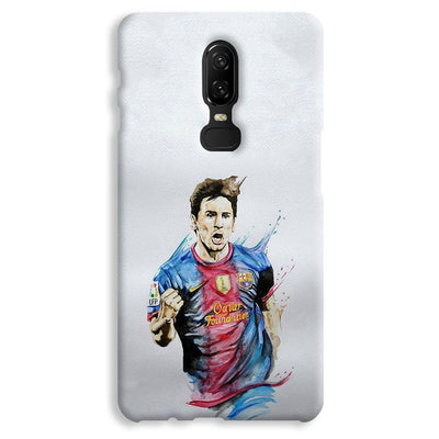 Messi White OnePlus 6 Case