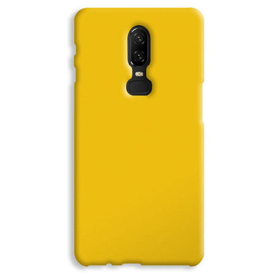 Yellow Crome OnePlus 6 Case