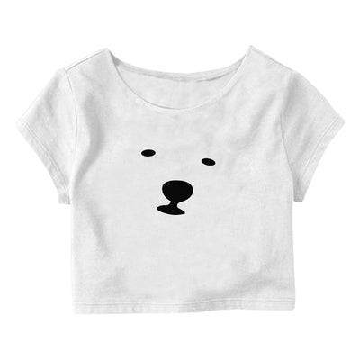 Bear Face Crop Top