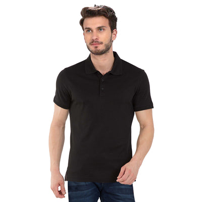 Plain Black Polo T-Shirt