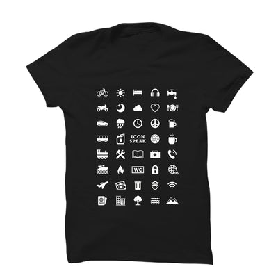 40 Travel Icons T-Shirt