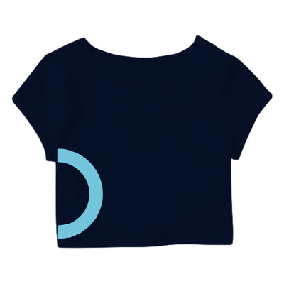 Blue Light Circle  Crop Top