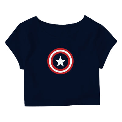 Captain America Shield Crop Top