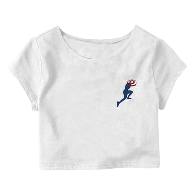 Captain America in action Crop Top