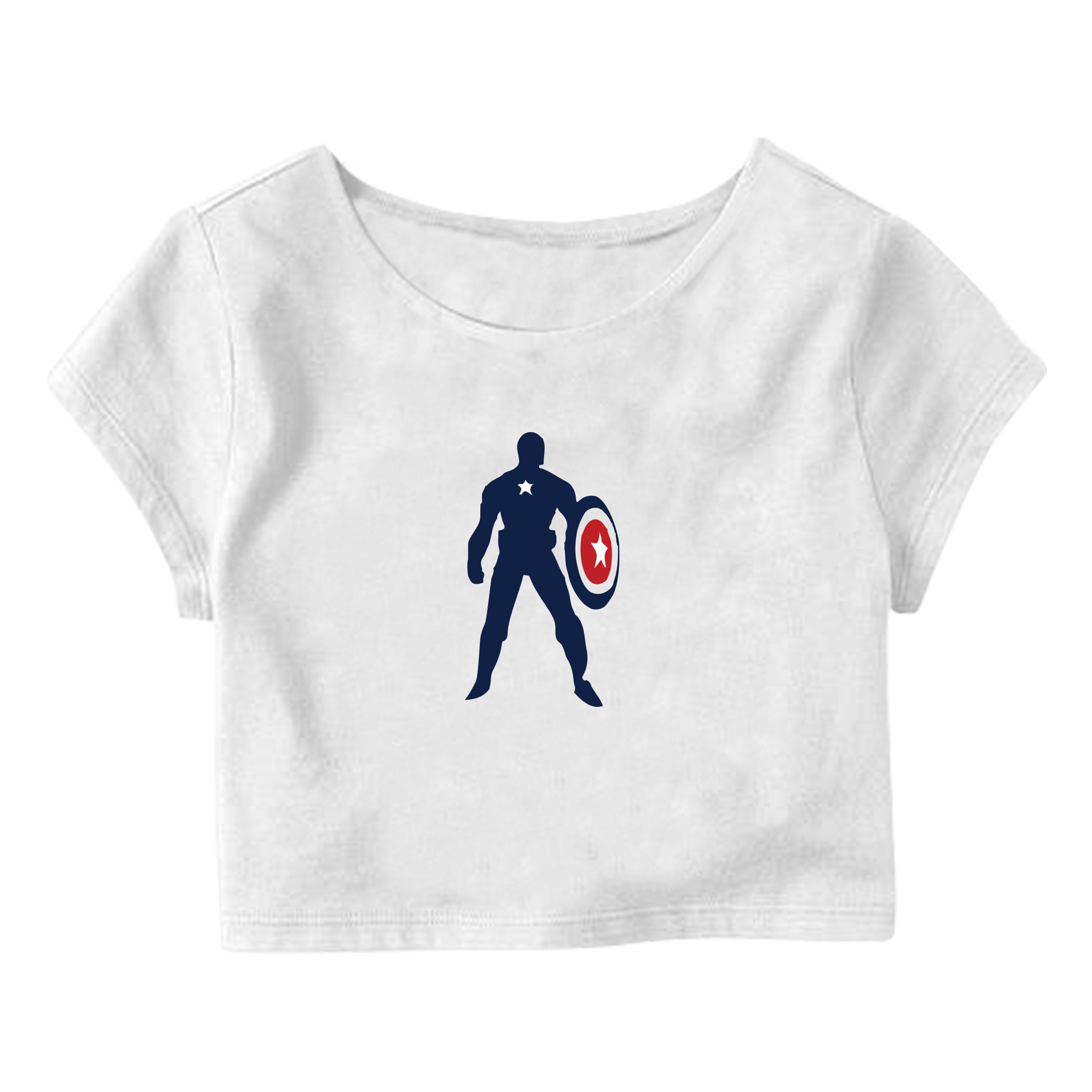 Captain America Crop Top