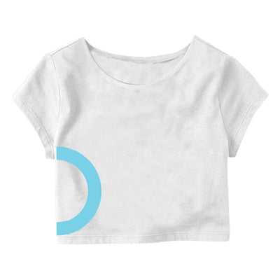 White Light Circle  Crop Top