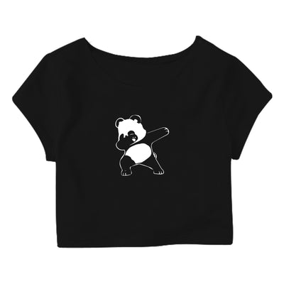Dab Panda Crop Top