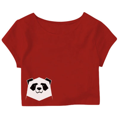 Geometric Panda Crop Top
