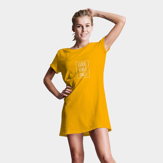 Good Vibes Only T-Shirt Dress