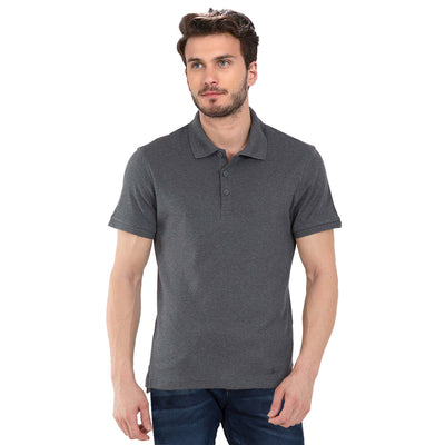 Plain Grey Polo T-Shirt