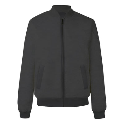 Plain Grey Bomber Jacket