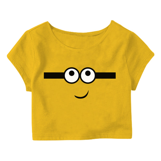 Happy Minion Crop Top