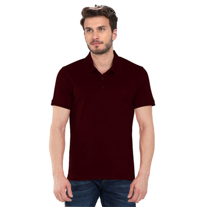 Plain Maroon Polo T-Shirt