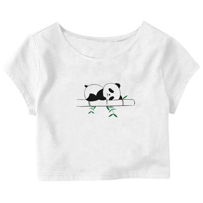 Sleeping Panda Crop Top