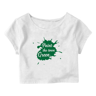 Paint The Town Green Crop Top