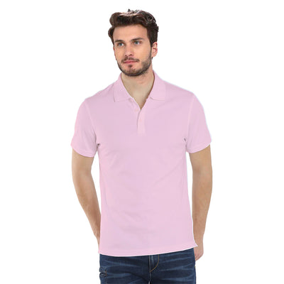 Plain Pink Polo T-Shirt