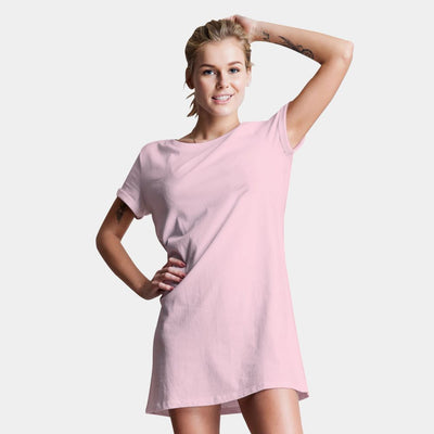 Plain Baby Pink T-Shirt Dress