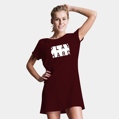 Play Hard  T-Shirt Dress