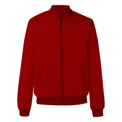 Plain Red Bomber Jacket