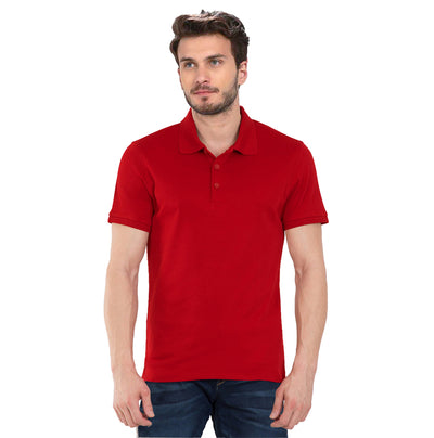 Plain Red Polo T-Shirt